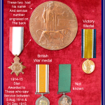 1919 - George Keam's medals for service