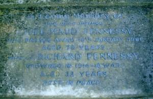 Headstone Richard Fennessy