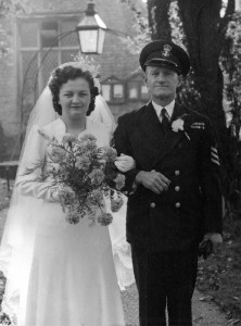 Arthur and my mother  21 October 1943, Arthur was  Stoker Petty Officer on HMS Frobisher